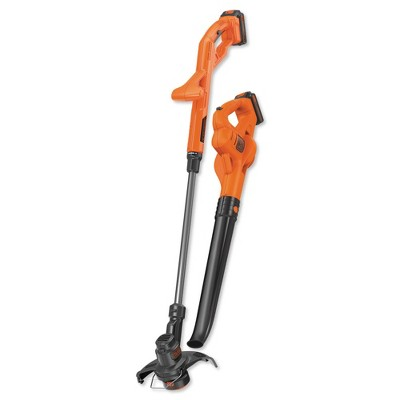 Black & Decker LCC222 20V MAX 1.5 Ah Cordless Lithium-Ion String Trimmer and Sweeper Combo Kit with 2 Batteries