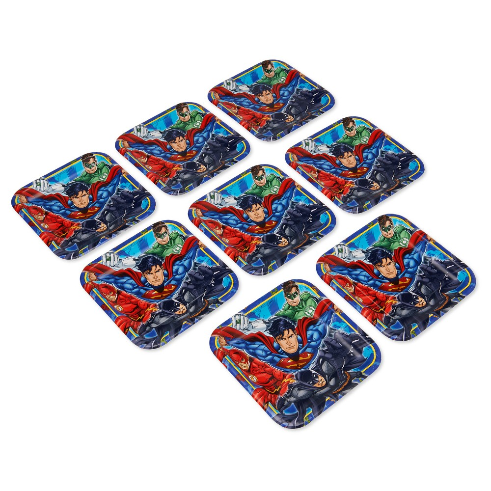 """Image of """"Justice League 9"""""""" Paper Plates - 8ct"""""""