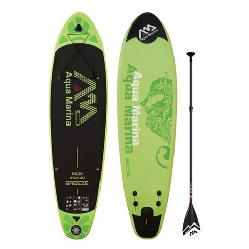 Aqua Marina BT-18BRP Breeze 9.9 Foot Inflatable SUP Stand Up Paddleboard, Green - image 1 of 4