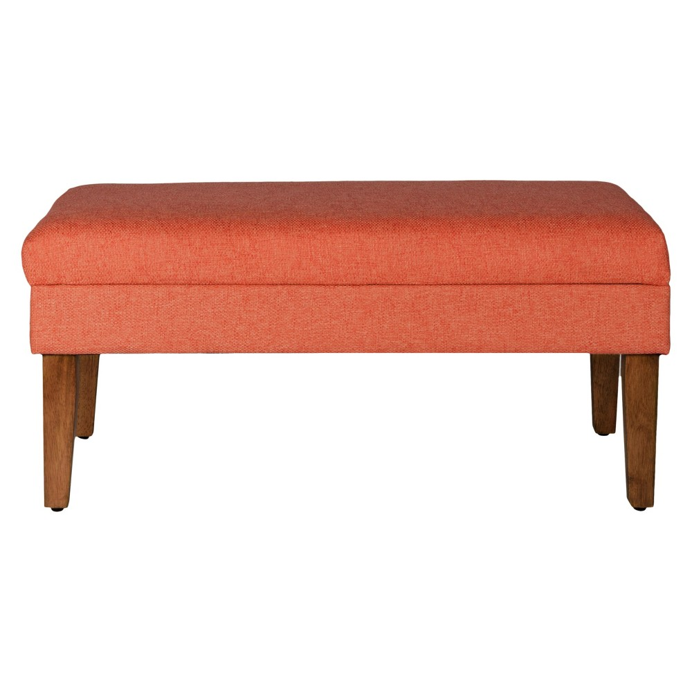 Homepop Storage Bench Coral (Pink) - HomePop Use this Chunky Textured Decorative Storage Bench to store extra pillows or blankets in a bedroom, hide toys or game controllers in the family room, or add seating to a living room. This storage bench can also hide accessories in an entryway or mudroom. with a hinged lid and a wood base in a driftwood finish, this storage bench is the perfect accent piece for your home. Easy to assemble and maintain. This storage bench can support up to 250 pounds. Color: Coral. Gender: Unisex.