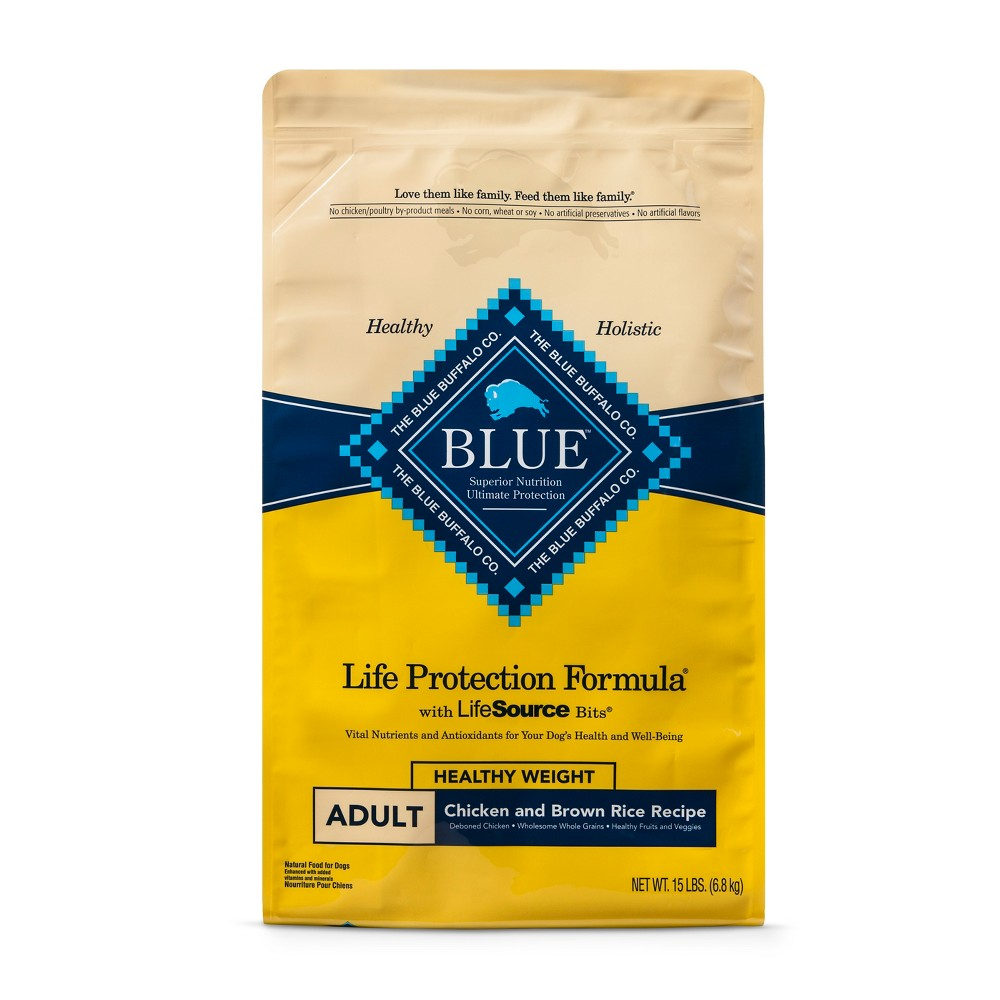 Blue Buffalo Adult Healthy Weight Chicken & Brown Rice Dry Dog Food - 15lb