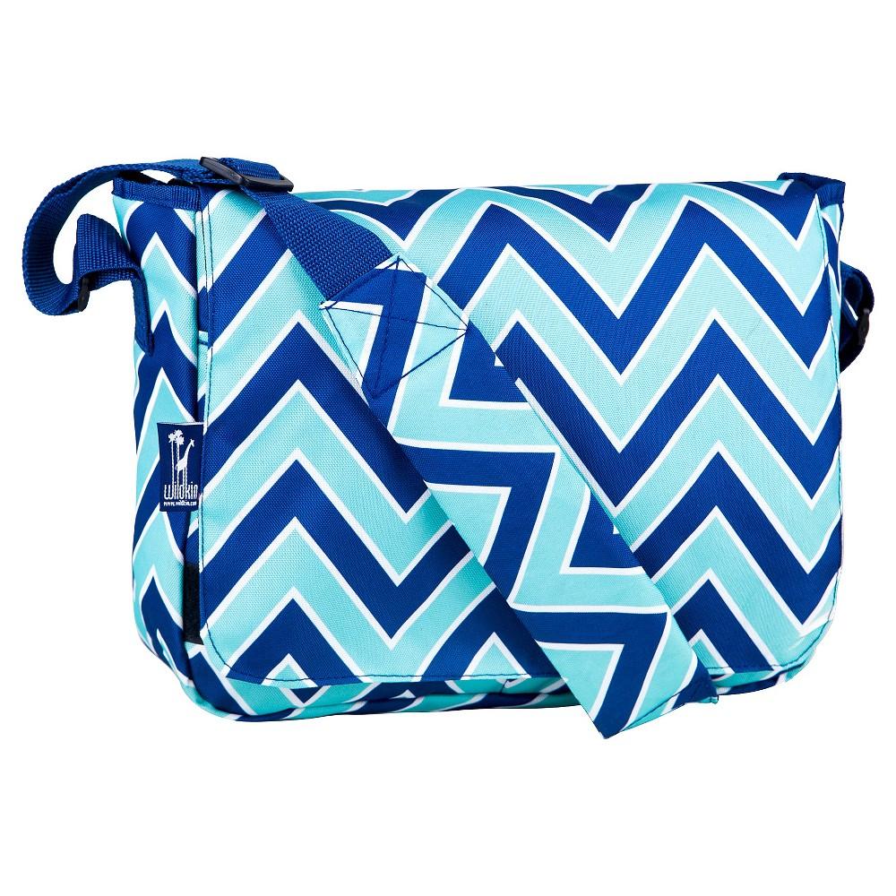 Wildkin Zigzag Lucite Kickstart Messenger Bag, Blue