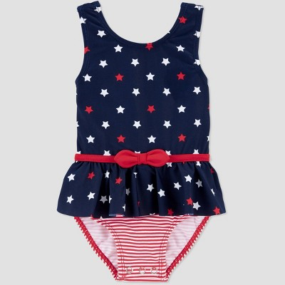 Baby Girls' Polka Dot One Piece Swimsuit - Just One You® made by carter's Dark Blue 9M