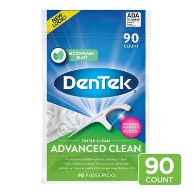 DenTek Triple Clean Floss Picks for Tight Teeth - 90ct