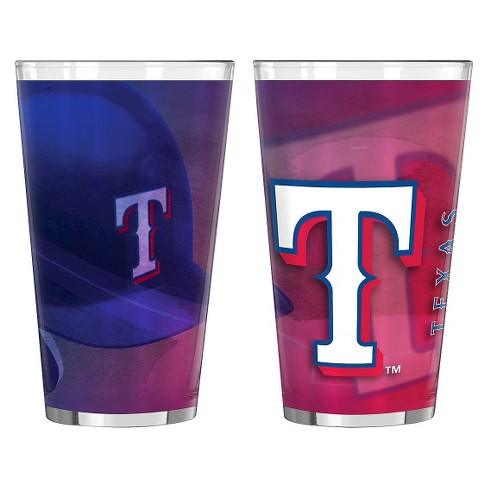 Boelter Brands MLB Texas Rangers Set of 2 Shadow Pint Glass - 16oz - image 1 of 1
