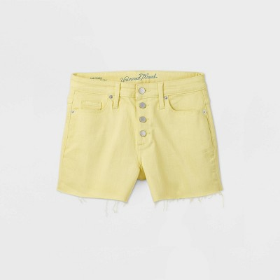 Women's High-Rise Jean Shorts - Universal Thread™ Lemon