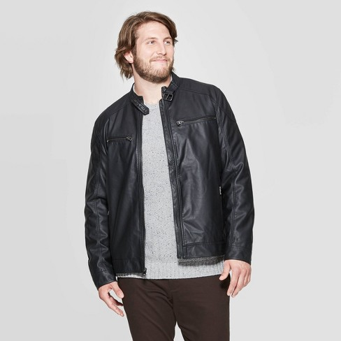 Men's Big & Tall Midweight Faux Leather Jacket - Goodfellow & Co™  - image 1 of 2