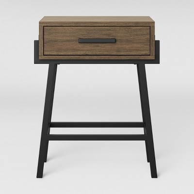 Corinna Angle Leg Side Table Wood - Threshold™