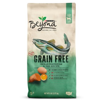 Purina Beyond Grain Free Ocean Whitefish & Egg Dry Cat Food - 5lbs