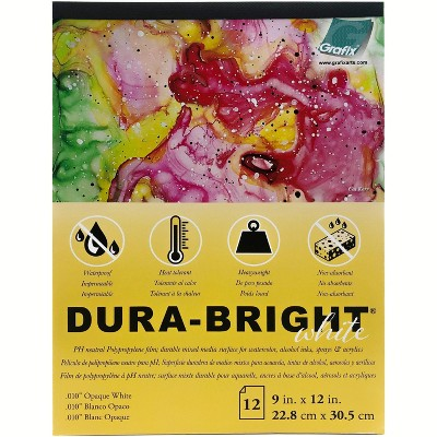 "Dura-Bright Opaque White Pad .010"" Pad 9x12""-9""X12"" 12 Sheets/Pad"