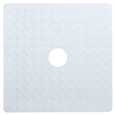 Rubber Non-Slip Square Shower Mat with Microban - Slipx Solutions