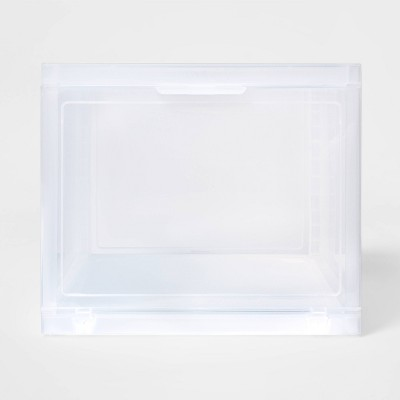 Stackable Small Storage Bin Front Opening Clear Plastic - Made By Design™