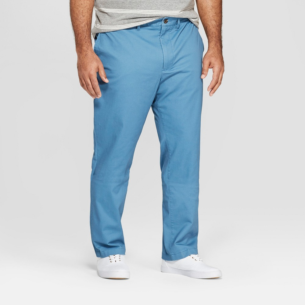 Men's Tall 36 Slim Fit Hennepin Chino Pants - Goodfellow & Co Blue 33x36