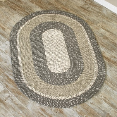 """Lakeside 30"""" Braided Area Rug for Covering Floors and High Traffic Areas"""