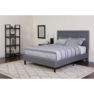 Flash Furniture Roxbury Panel Tufted Upholstered Platform Bed