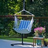 Soft Comfort Patio Hanging Chair - Blue Stripe - image 4 of 4