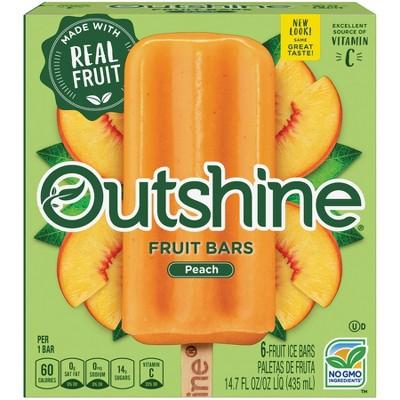 Outshine Peach Frozen Fruit Bars - 6pk