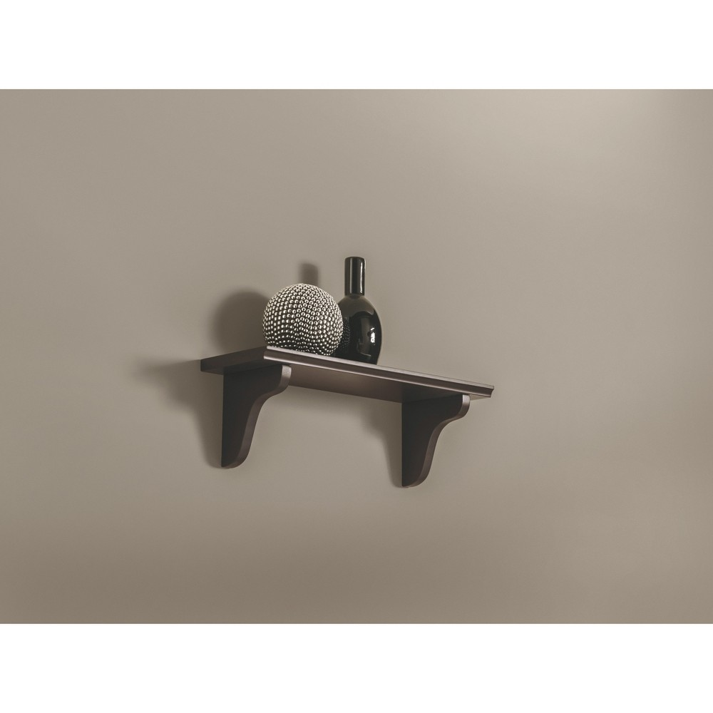 "Image of ""16"""" x 5"""" x 0.6"""" Wall Shelf & Trophy Espresso - Dolle Shelving"""
