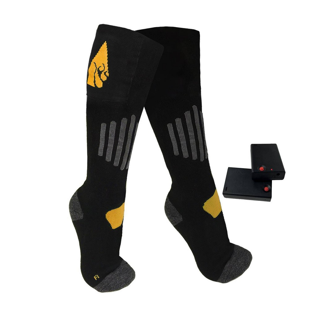 Image of ActionHeat Cotton AA Battery Heated Socks - Black XXL