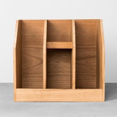 wood desk organization hearth hand with magnolia target rh target com target threshold desk organizer target threshold desk organizer