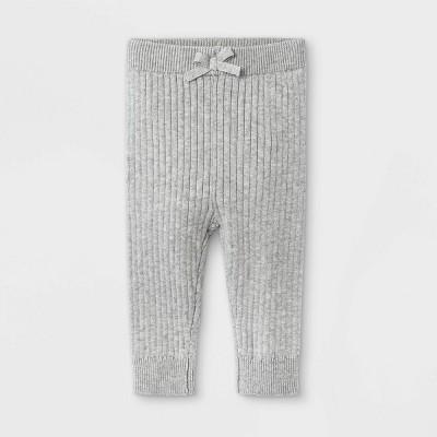 Baby Rib Knit Sweater Leggings - Cat & Jack™ Gray 12M