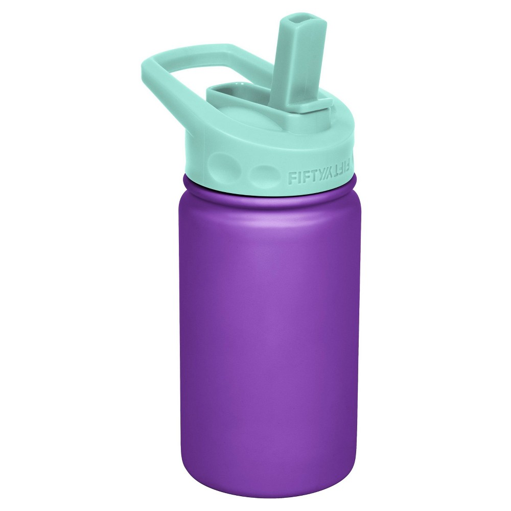 Image of FIFTY/FIFTY 12oz Bottle Straw Cap Purple/ Cool Mint