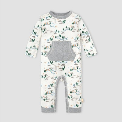 Burt's Bees Baby® Baby Camp Grounds Jumpsuit - Off-White 3M