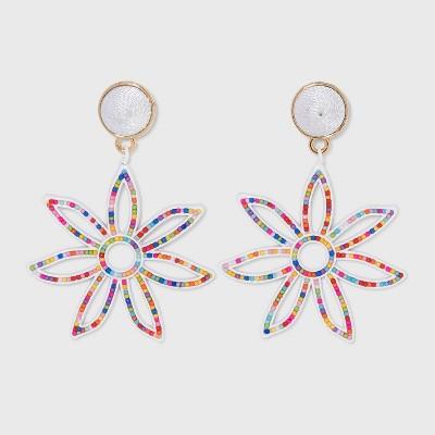 SUGARFIX by BaubleBar Colorful Flower Drop Earrings