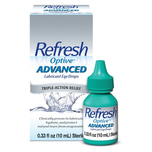 Refresh Optive® Advanced Triple-Action Relief Eye Drop - 0.33 oz - image 1 of 1