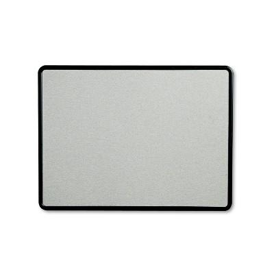 Quartet Contour Fabric Bulletin Board 48 x 36 Gray Surface Black Plastic Frame 7694G