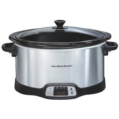 Hamilton Beach 8qt Programmable Slow Cooker - Silver