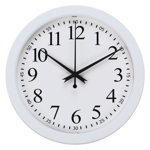 "9"" Round Wall Clock White - Room Essentials™ - image 1 of 1"
