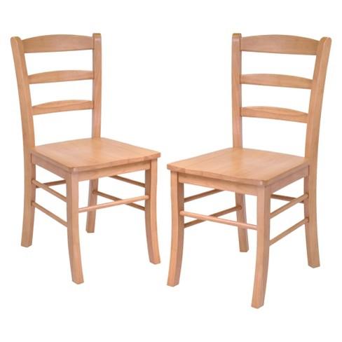 Hannah Dining Chair Wood/Light Oak - Winsome : Target