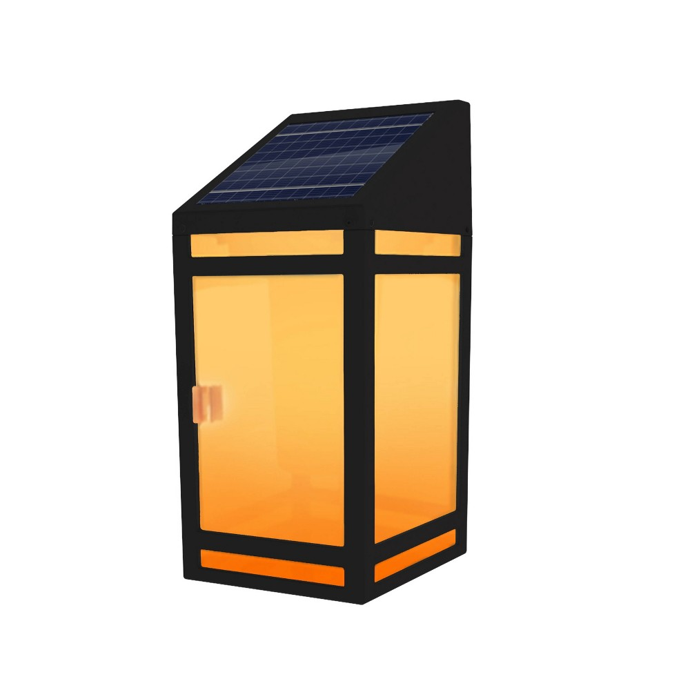 Image of Solar LED Outdoor Wall Lantern with Flame - Techko Kobot
