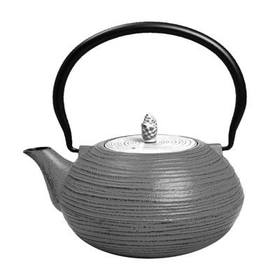 """Frieling """"Mo Yo"""", Cast Iron Teapot, 40 fl. oz. , Gray/White"""