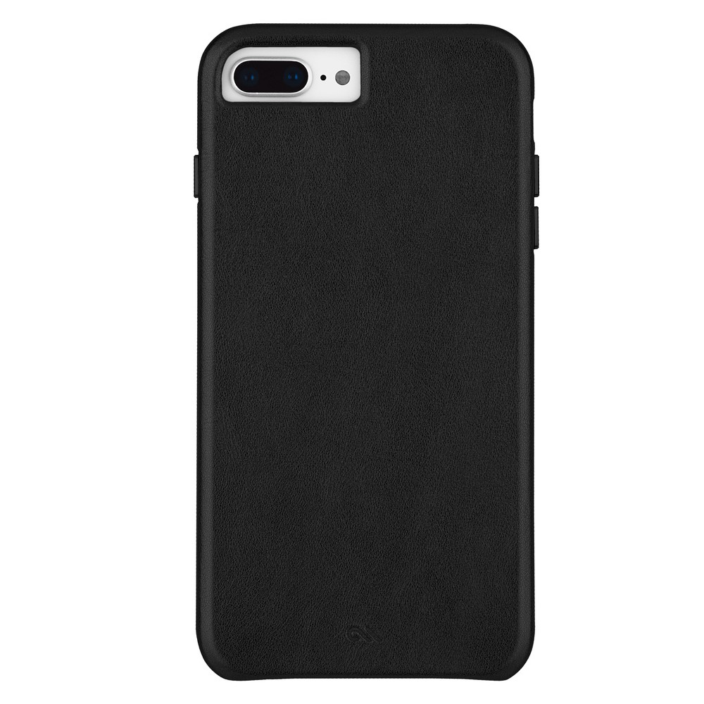 Case-Mate Apple iPhone 8 Plus/7 Plus/6s Plus/6 Plus Barely There Leather Case - Smooth Black