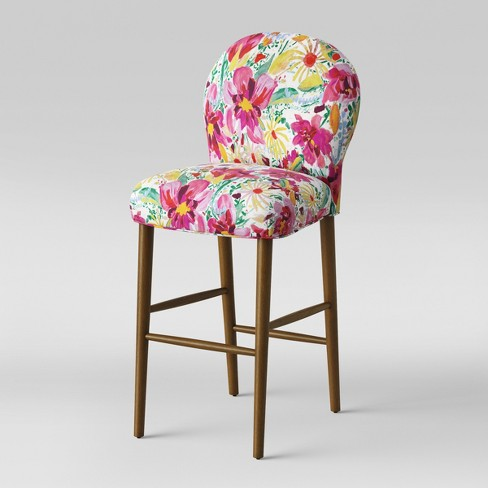 32 Caracara Rounded Back Barstool Bright Floral Opalhouse Target