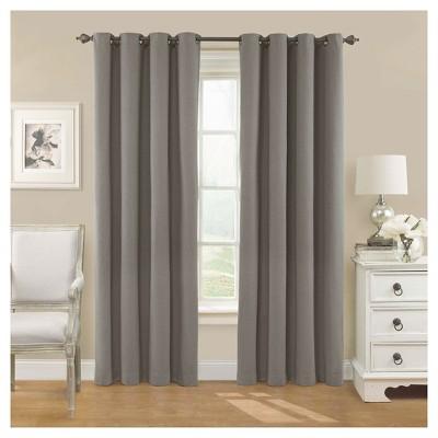 52 x63  Nadya Solid Blackout Curtain Panel Smoke - Eclipse
