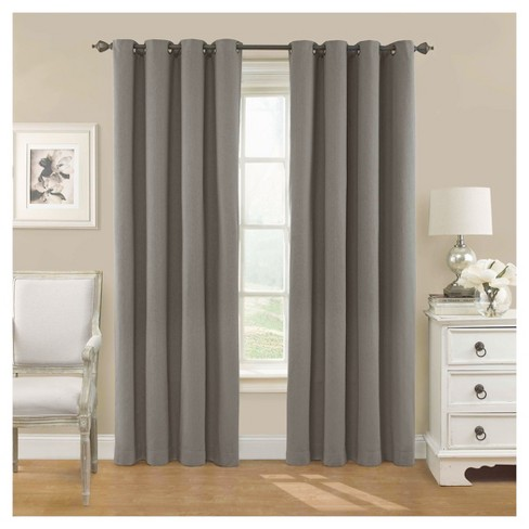 "Eclipse Nadya Solid Curtain Panel - Teak (40""x95"") - image 1 of 1"