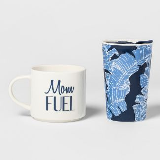 2pc Porcelain Mom Fuel Traveler Set - Threshold™