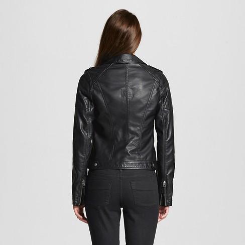 Women S Faux Leather Moto Jacket Xhilaration Target