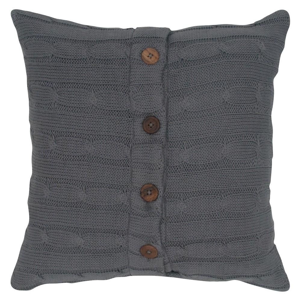 18 34 x18 34 Sweater Knit Throw Pillow Smoke Rizzy Home