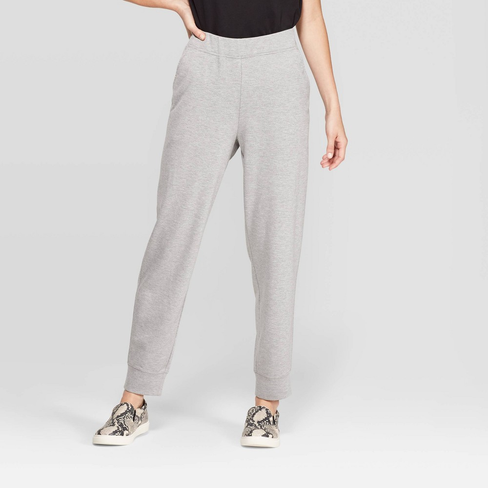 Women's Mid-Rise Straight Leg Knit Jogger Pants - Prologue Heather Gray L, Women's, Size: Large, Grey Gray was $24.99 now $17.49 (30.0% off)