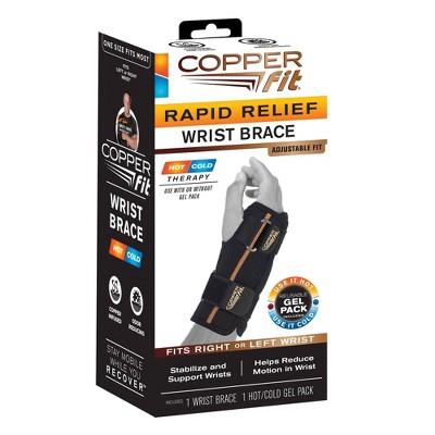 Copper Fit Rapid Relief Wrist Wrap - Black
