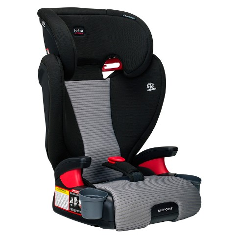 Britax Dual Comfort Midpoint Booster Car Seat Black Gray