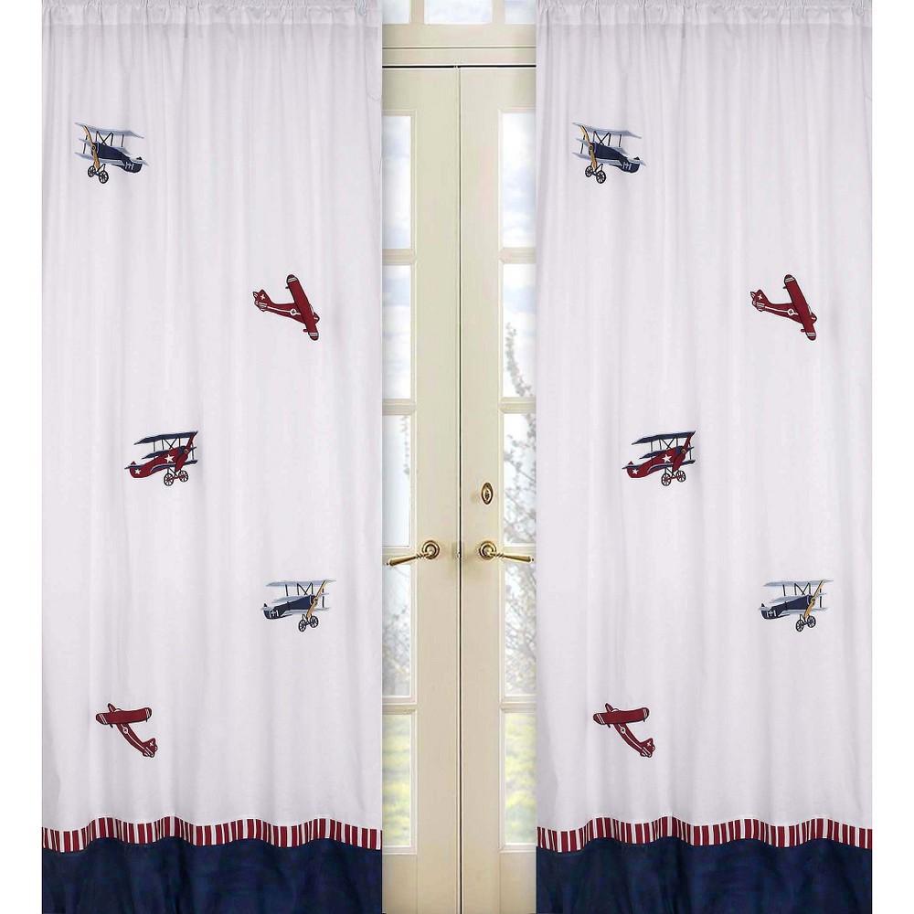 Image of Sweet Jojo Designs Vintage Aviator Window Panels