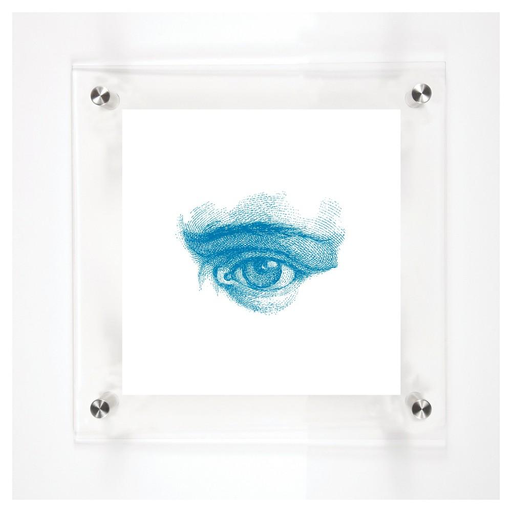 Mitchell Black Look Decorative Framed Wall Canvas Aqua (Blue) (12