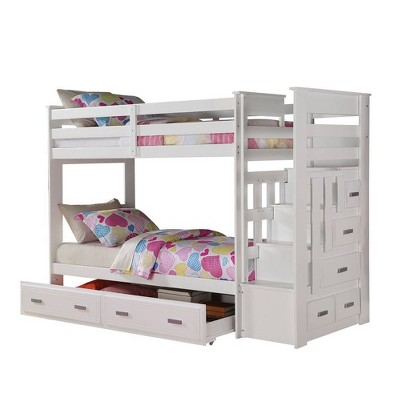 Twin/Twin Allentown Kids' Bunk Bed White - Acme Furniture
