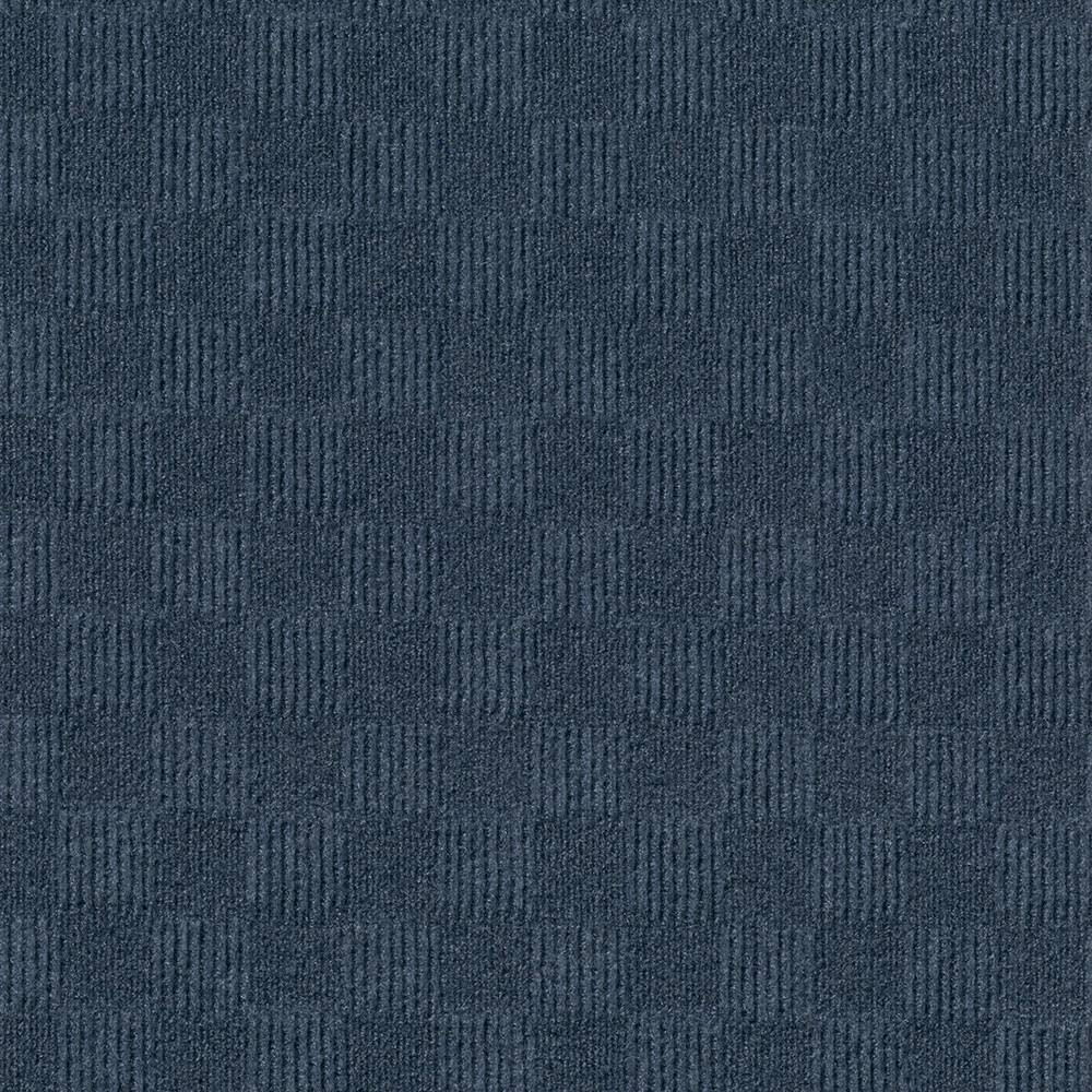 24 15pk Crochet Carpet Tiles Denim (Blue) - Foss Floors