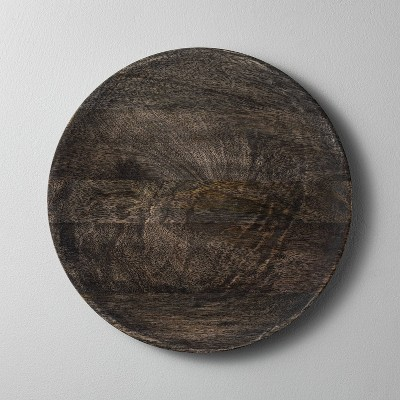 Distressed Wood Plate Charger Black - Hearth & Hand™ with Magnolia